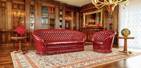 Mascheroni leather sofas